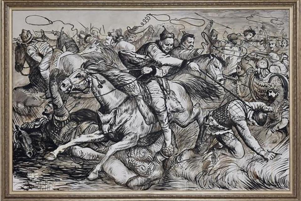 фото «Гунны в боевом сражении с аланами»